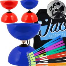 Juggle Dream Big Top Bearing Diabolo with Fibreglass Hand Sticks & DVD Package
